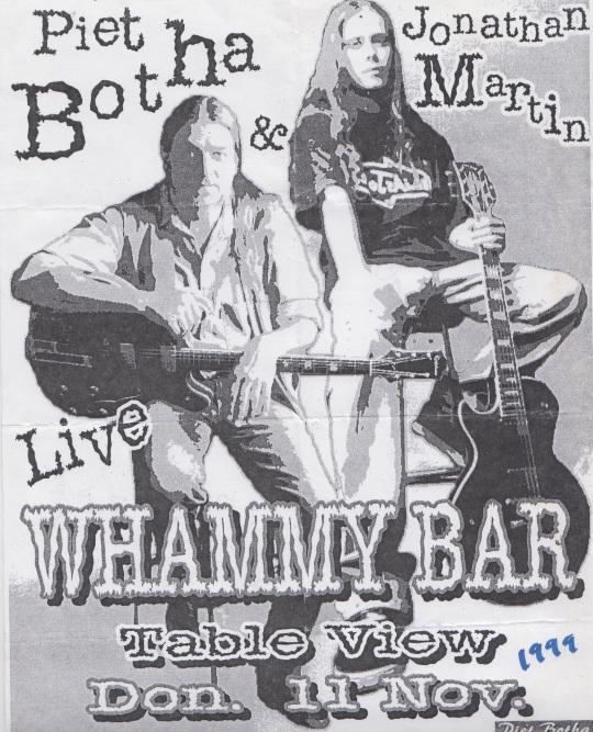 Whammy Bar 11 November 1999