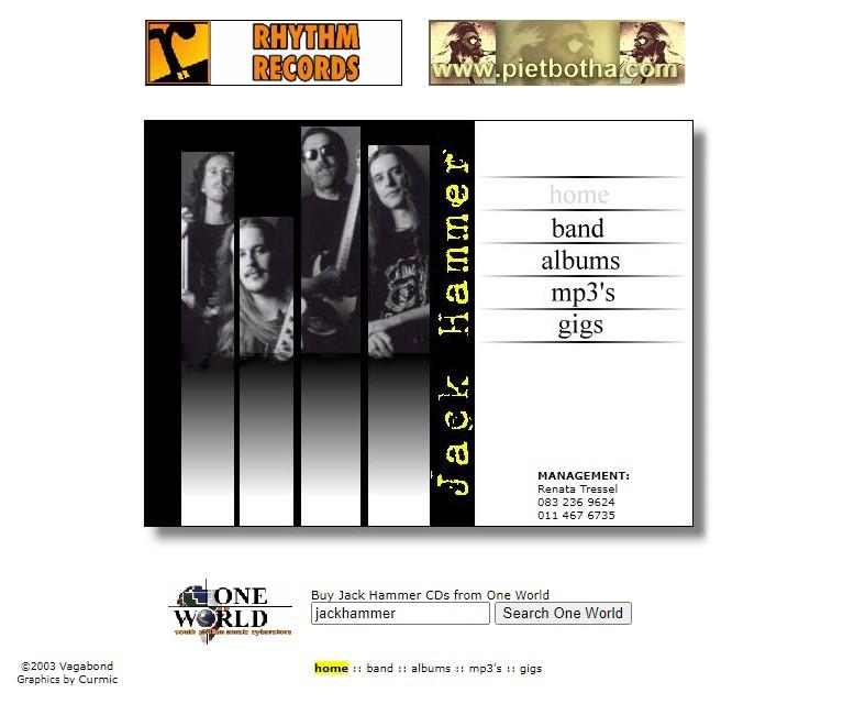 Jack Hammer Website 2003