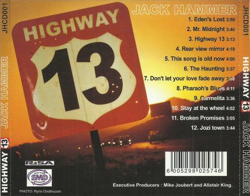 Jack Hammer: Highway 13 (CD back cover)