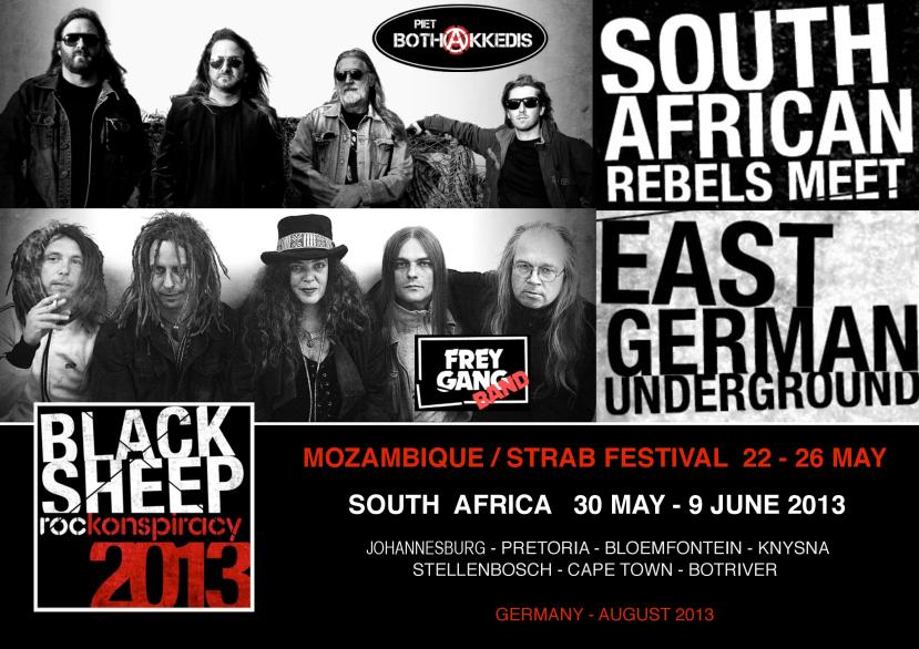 The Black Sheep Rockonspiracy - South African Rebels Meet East German Underground
